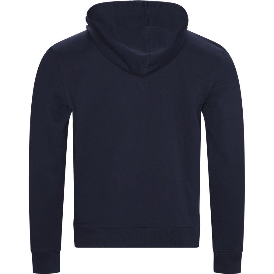 SH8590 - Embroidered Logo And Kangaroo Pocket Hooded Fleece Sweatshirt - Sweatshirts - Regular - NAVY - 2