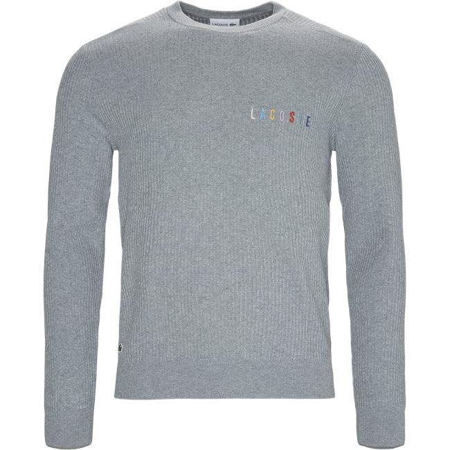 Crew Neck Multicoloured Signature Embroidery Cotton Blend Sweater