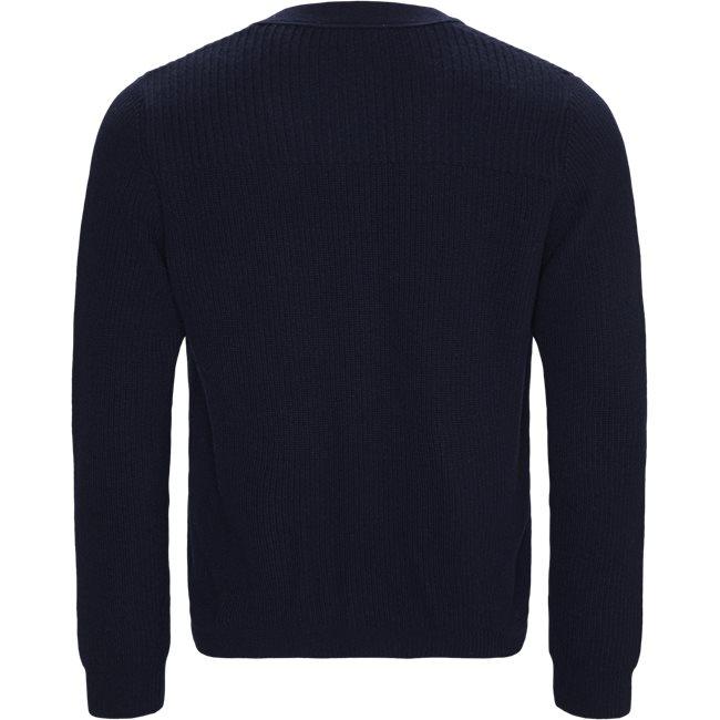 V-Neck Knit Effects Cotton Blend Cardigan