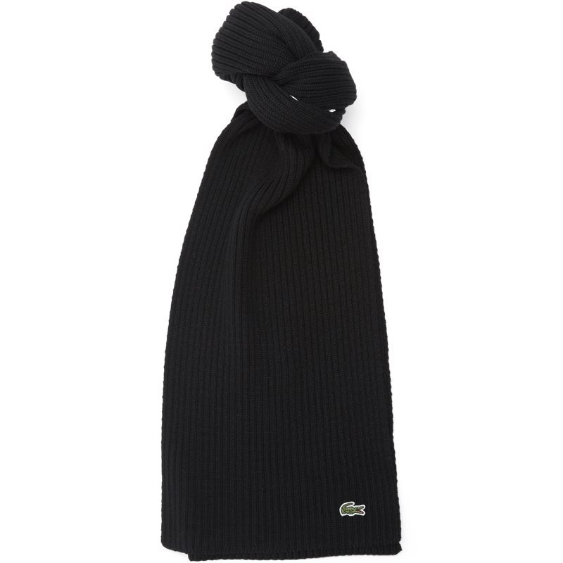 Image of   Lacoste Ribbed Wool Scarf Sort