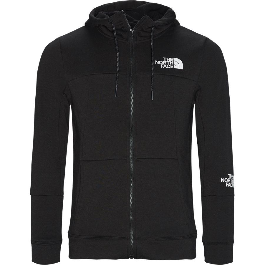 MOUNTAIN LIGHT FZ - Mountain Light Full Zip Sweatshirt - Sweatshirts - Regular - SORT - 1