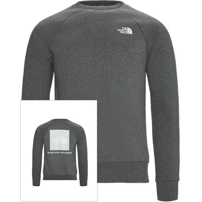 Red Box Crewneck Sweatshirt Regular | Red Box Crewneck Sweatshirt | Grå