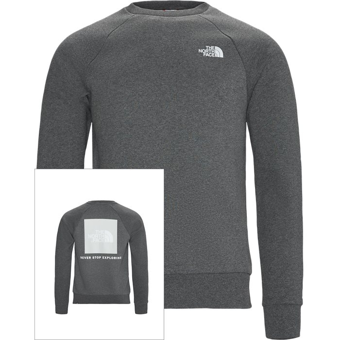 Red Box Crewneck Sweatshirt - Sweatshirts - Regular - Grå