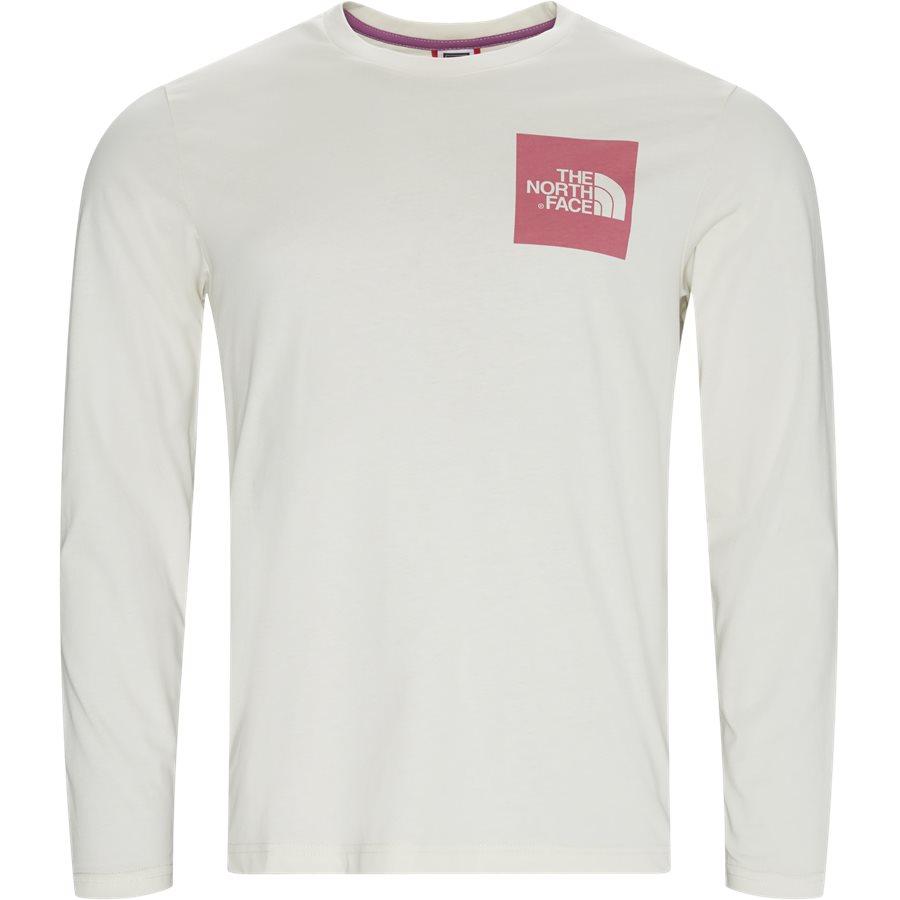 FINE TEE LS T937 - T-shirts - HVID/PINK - 1