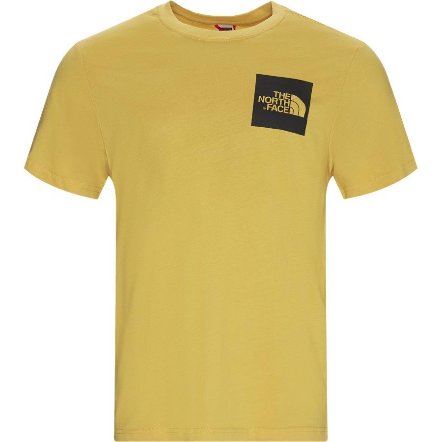 FINE TEE SS T0CE - Fine Tee SS - T-shirts - Regular - GUL - 1
