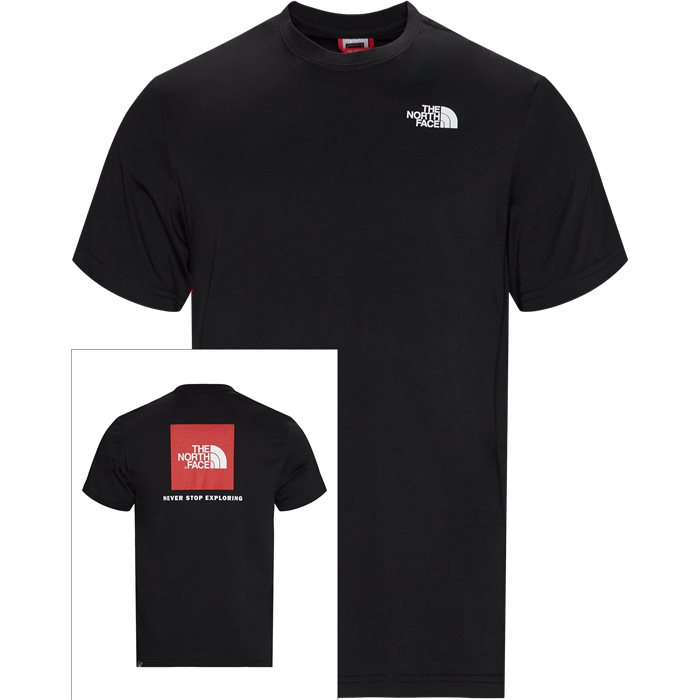 Red Box Tee - T-shirts - Regular - Sort