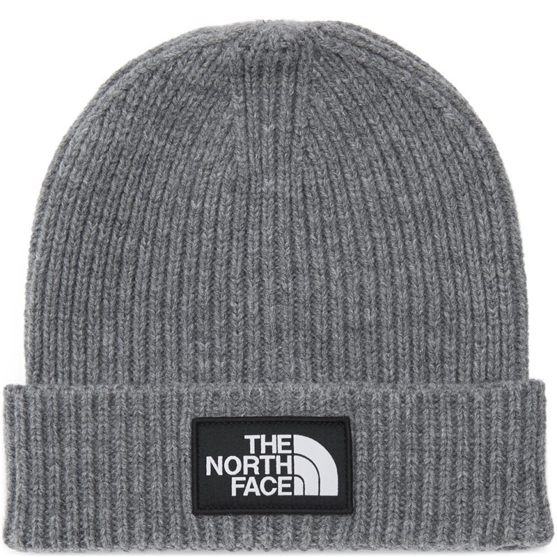 the north face – The north face logo box cuff beanie grå på quint.dk