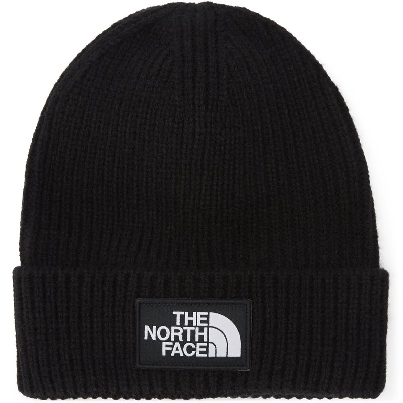 The north face logo box cuff beanie sort fra the north face fra quint.dk