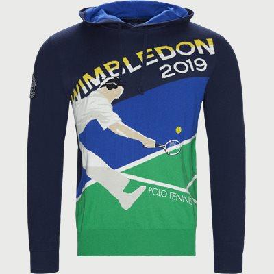 Cashmere Wimbledon Knit Hoodie Regular | Cashmere Wimbledon Knit Hoodie | Blå