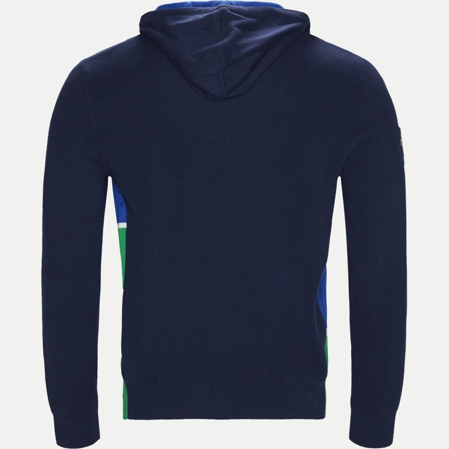 710749371 - Cashmere Wimbledon Knit Hoodie - Strik - Regular - NAVY - 2