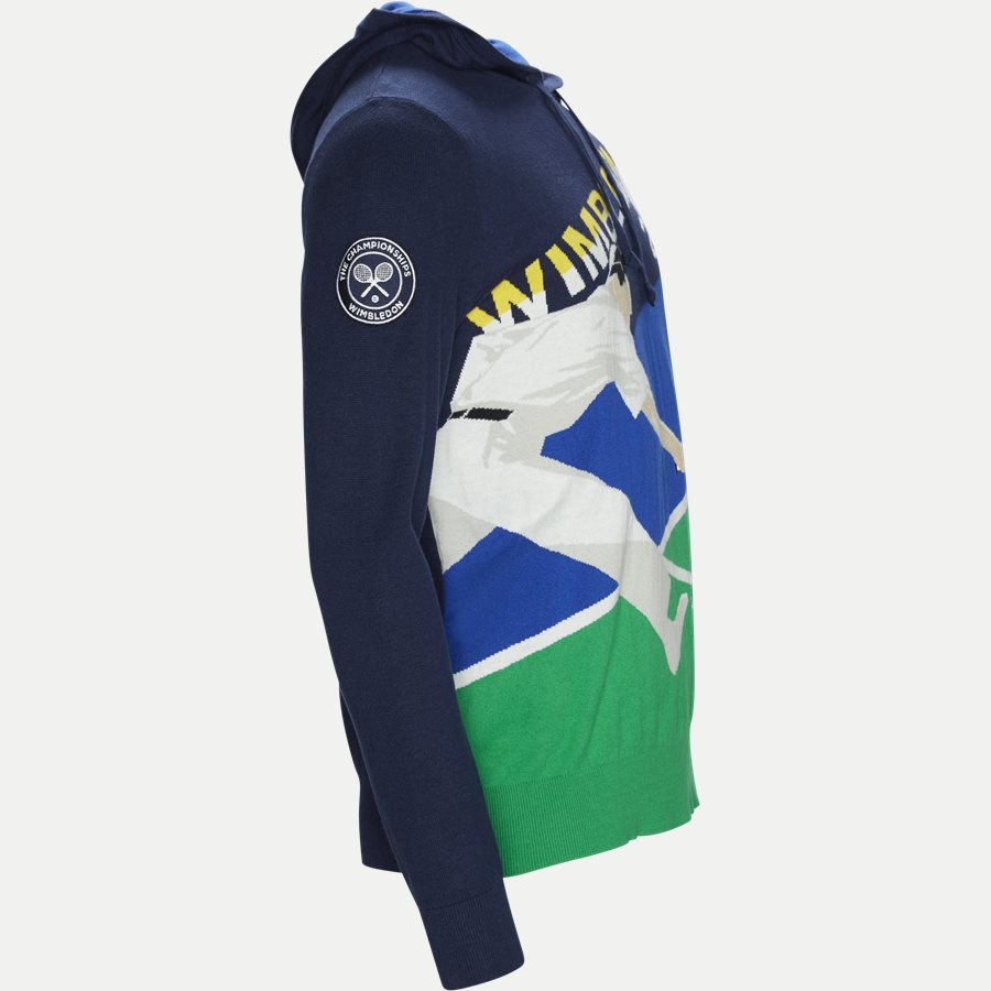 710749371 - Cashmere Wimbledon Knit Hoodie - Strik - Regular - NAVY - 4