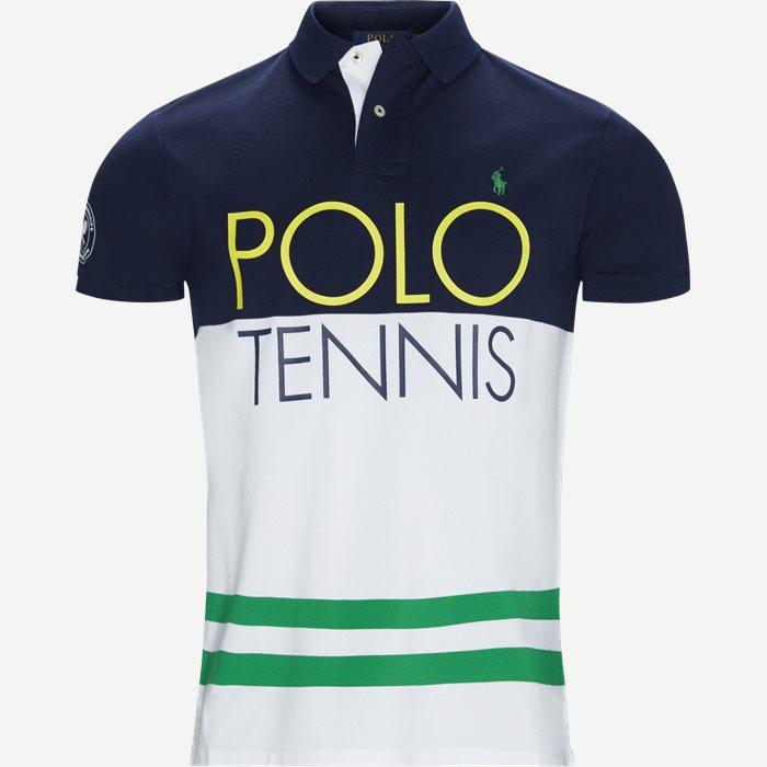 M Wimbledon Ret French Polo T-shirt - T-shirts - Regular - Blå