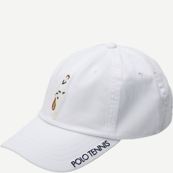 M Wimbledon Ret White Hat - Caps - Hvid