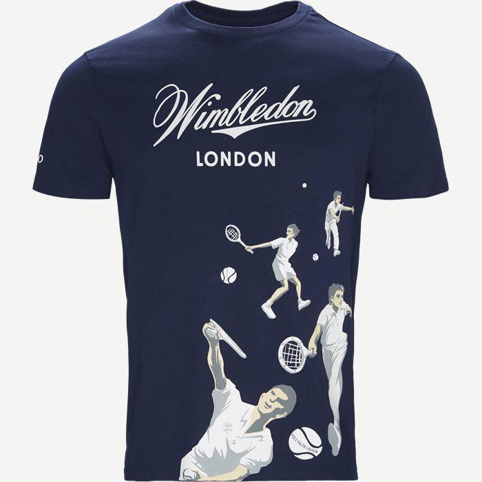 M Wimbledon Ret T-shirt - T-shirts - Regular - Blå