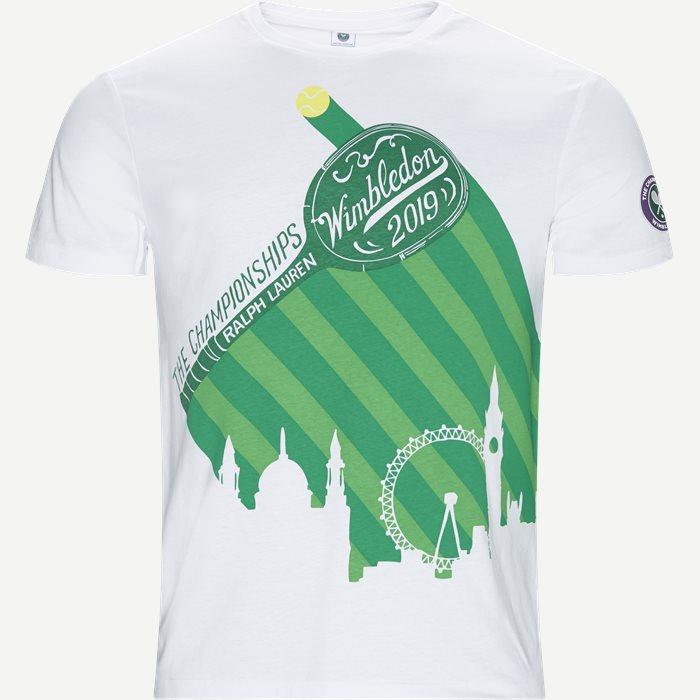 M Wimbledon Ret T-shirt - T-shirts - Regular - Hvid