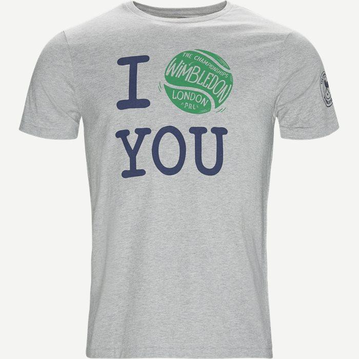 M Wimbledon Ret T-shirt - T-shirts - Regular - Grå