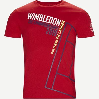 M Wimbledon Ret T-shirt Regular | M Wimbledon Ret T-shirt | Rød