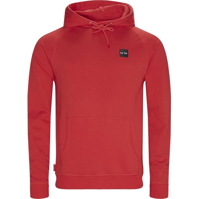 le fix – Le fix lf patch hoodie rød fra quint.dk