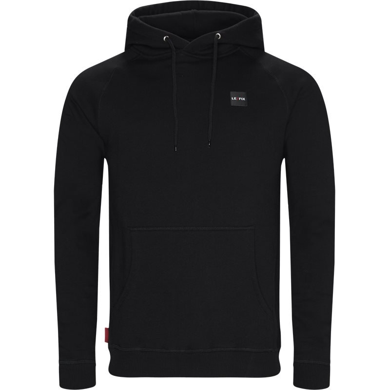 le fix Le fix lf patch hoodie sort fra quint.dk
