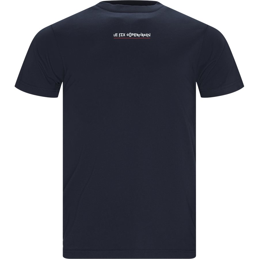 JUMPING LETTERS TEE 1902001 - Jumping Lettters Tee - T-shirts - Regular - NAVY - 1