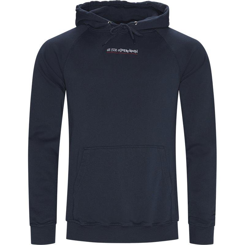 le fix – Le fix jumping letters hoodie navy fra quint.dk