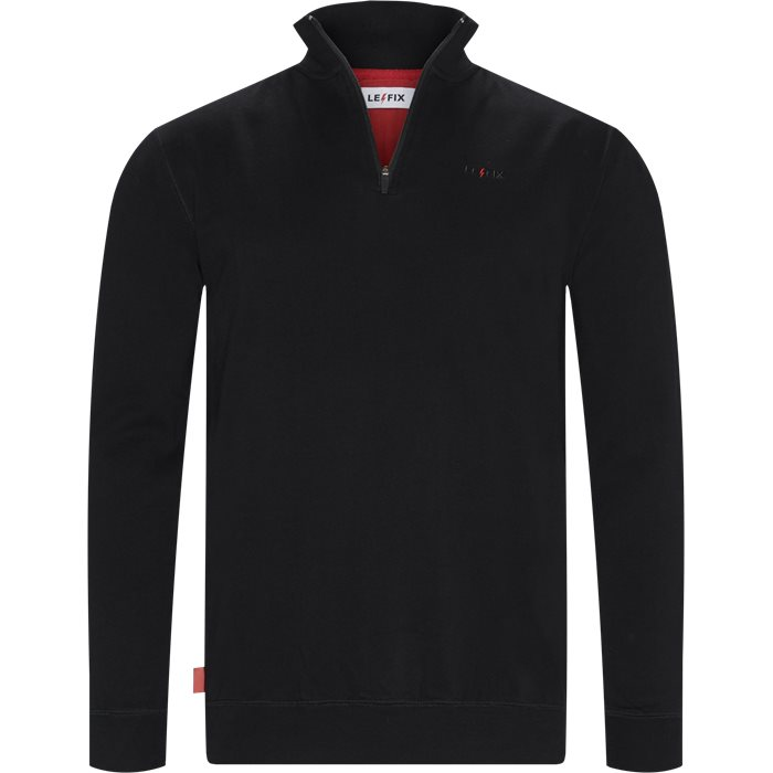 Q Zip Sweatshirt - Sweatshirts - Regular - Sort