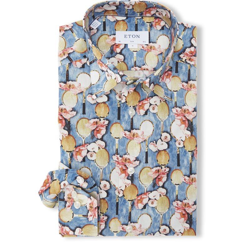 Image of   Eton - 2757 Blomstret Poplin Skjorte