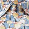 2757 61511/61311 - 2757 Blomstret Poplin Skjorte - Skjorter - BLÅ - 2