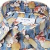 2757 61511/61311 - 2757 Blomstret Poplin Skjorte - Skjorter - BLÅ - 3