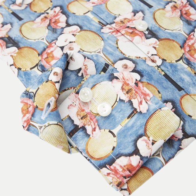 2757 Blomstret Poplin Skjorte