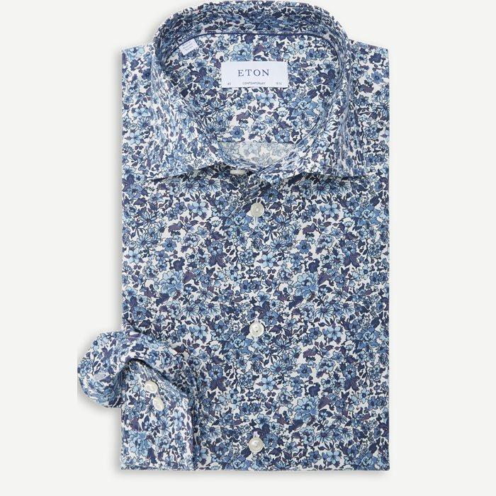 2766 Poplin Skjorte - Skjorter - Blå