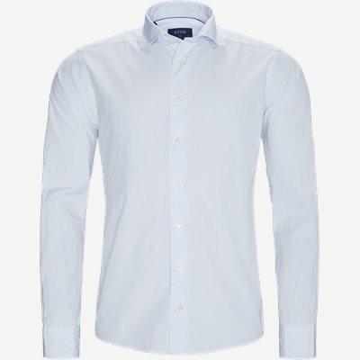 9382 Poplin Skjorte  Slim | 9382 Poplin Skjorte  | Blå