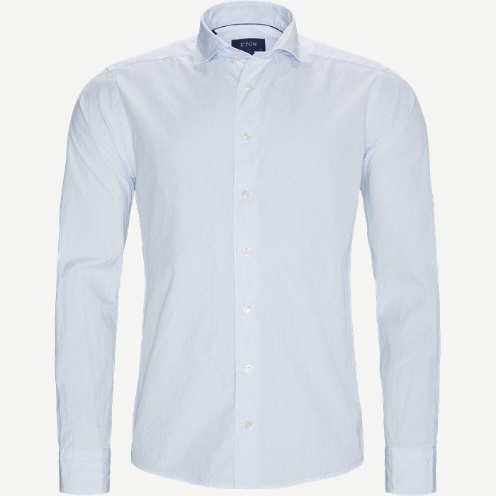 9382 Poplin Skjorte  - Skjorter - Slim - Blå