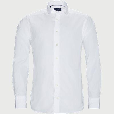 9380 Poplin Skjorte Slim | 9380 Poplin Skjorte | Hvid