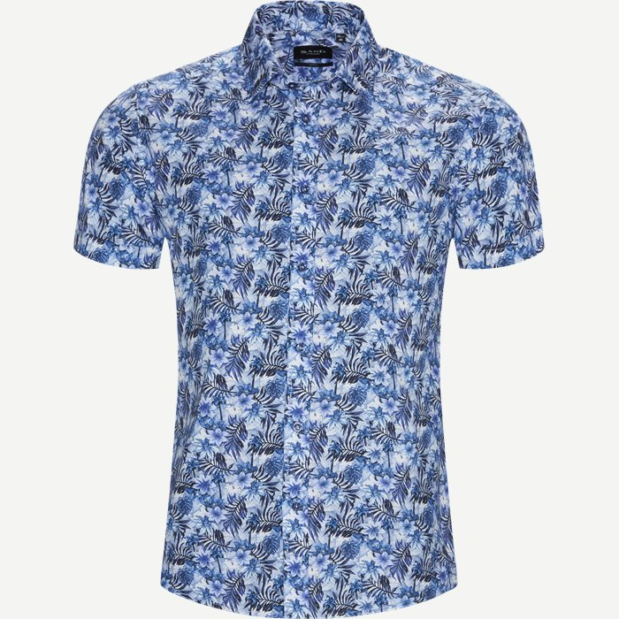 Kortärmade skjortor - Blå