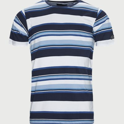 Jay Stripe Crew Neck T-shirt Regular | Jay Stripe Crew Neck T-shirt | Blå
