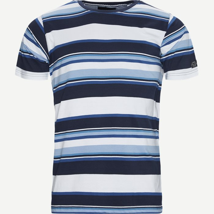 Jay Stripe Crew Neck T-shirt - T-shirts - Regular - Blå