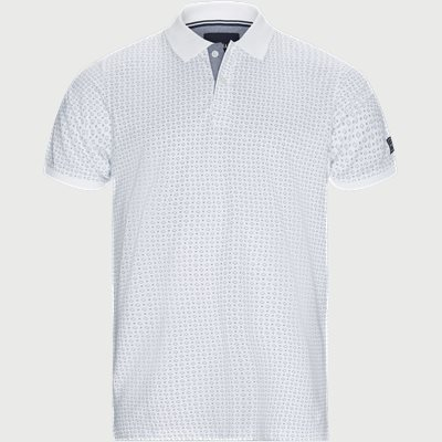 Irwing Print Polo T-shirt Regular | Irwing Print Polo T-shirt | Hvid