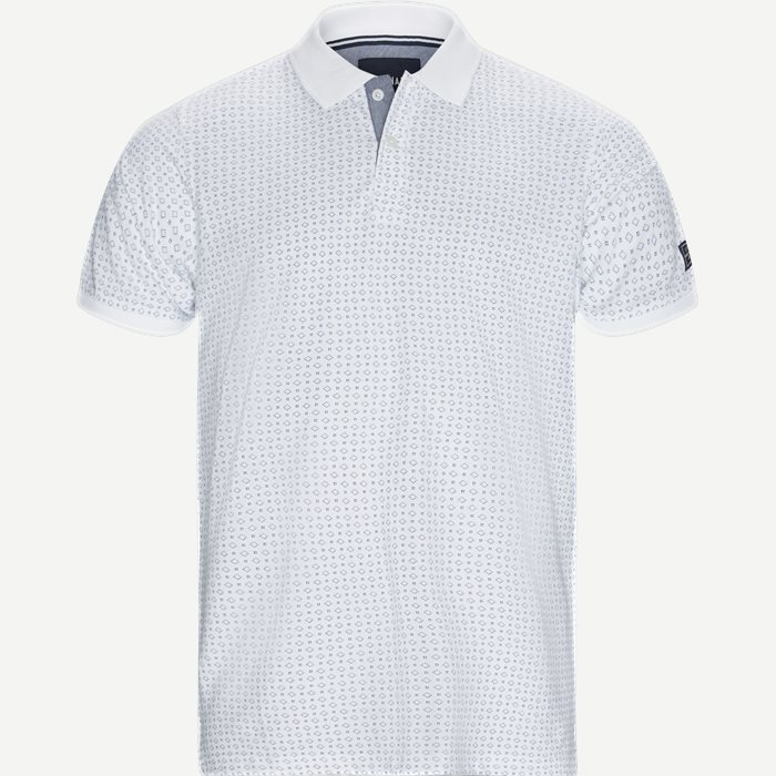Irwing Print Polo T-shirt - T-shirts - Regular - Hvid