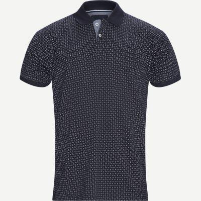 Irwing Print Polo T-shirt Regular | Irwing Print Polo T-shirt | Blå