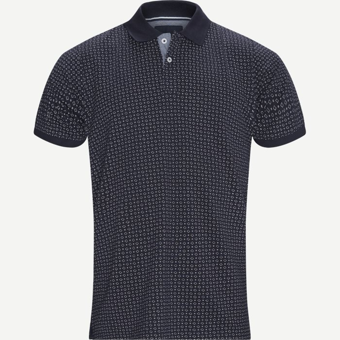 Irwing Print Polo T-shirt - T-shirts - Regular - Blå
