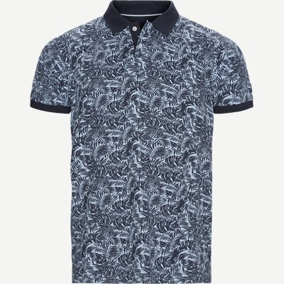 Igor Floral Polo T-shirt Regular | Igor Floral Polo T-shirt | Blå