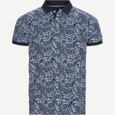 Igor Floral Polo T-shirt Regular | Igor Floral Polo T-shirt | Blå