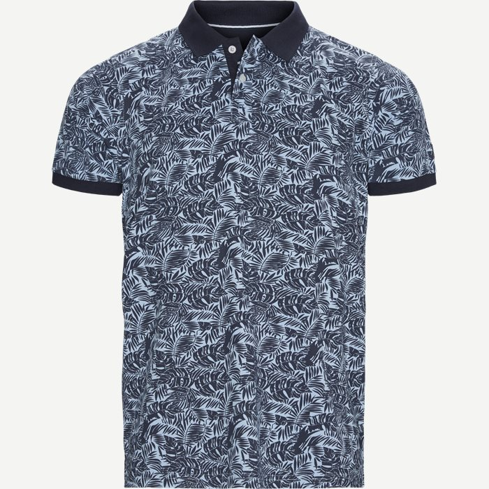 Igor Floral Polo T-shirt - T-shirts - Regular - Blå