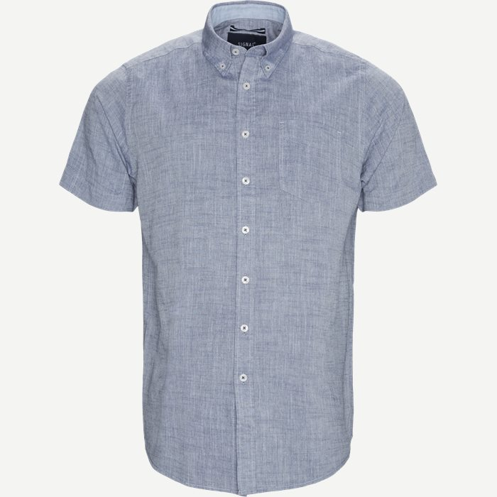 Kevin2 CP Kortærmet Skjorte - Kortærmede skjorter - Regular - Blå