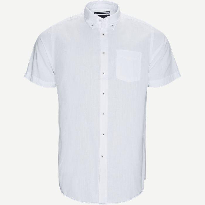 Kevin2 CP Kortærmet Skjorte - Kortærmede skjorter - Regular - Hvid
