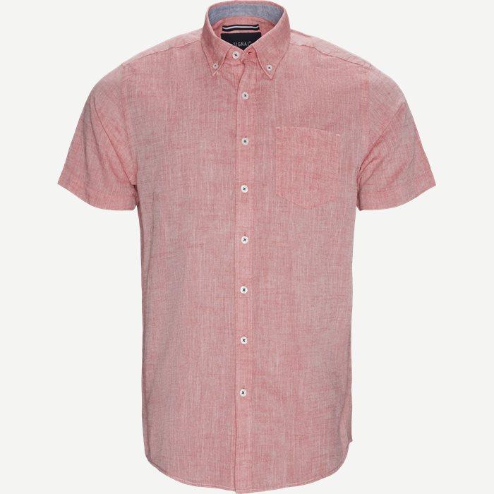Kevin2 CP Kortærmet Skjorte - Kortærmede skjorter - Regular - Rød