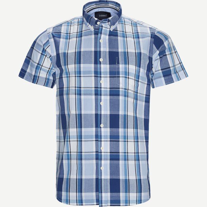 Rutiga skjortor - Regular - Blå