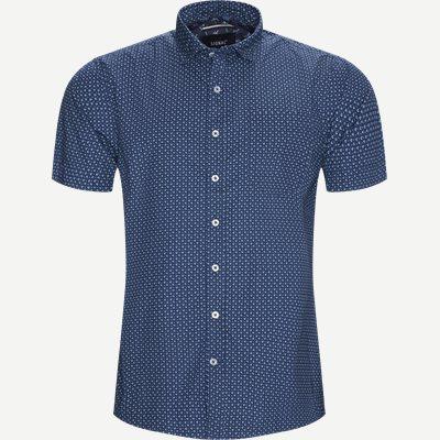 Mack Print CP Kortærmet Skjorte Regular   Mack Print CP Kortærmet Skjorte   Blå