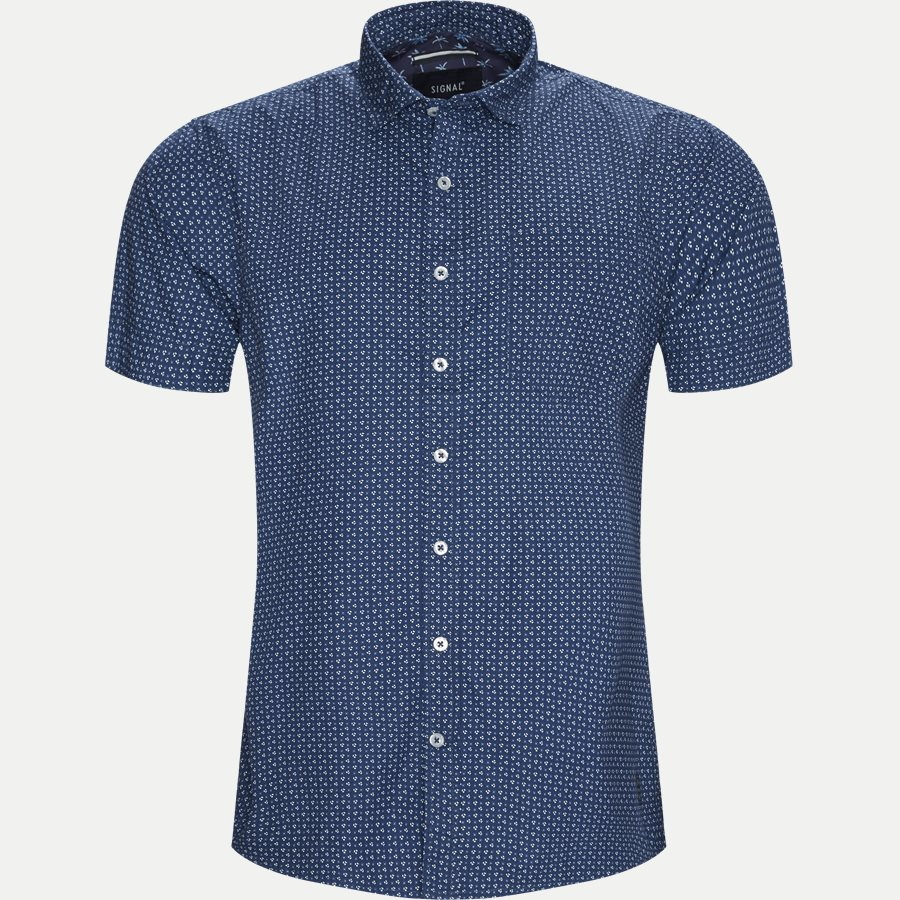 15303 1327 - Mack Print CP Kortærmet Skjorte - Skjorter - Regular - BLÅ - 1